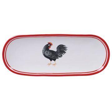 Certified International Homestead Rooster Bread Tray