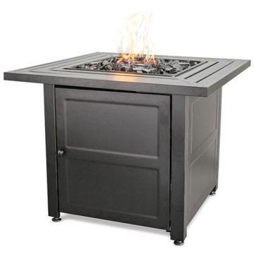 UniFlame Propane Gas Outdoor Firebowl with Steel Mantel