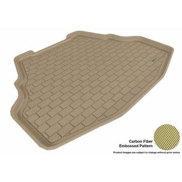 3D MAXpider 2009-2014 Acura TL FWD All Weather Cargo Liner in Tan with Carbon Fiber Look