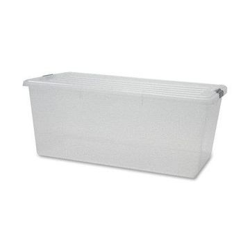 Iris, IRS100201, Clear Storage Boxes with Lids, 4 / Carton, Clear, 22.75 gal