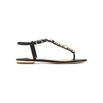 Sophia Webster Ritzy Embellished Leather Thong Sandals