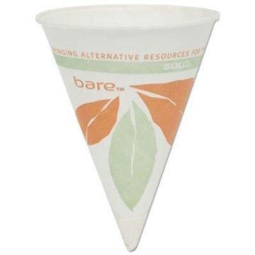 Dart Cup,Cone,4oz,Bare,Wh 4BRBB