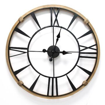 Stratton Home Decor Columbus Wall Clock