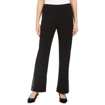 Jm Collection Crepe Embellished Pants, Created For Macy's