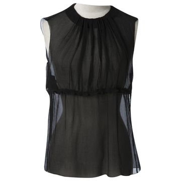 Prada Black Silk Tops