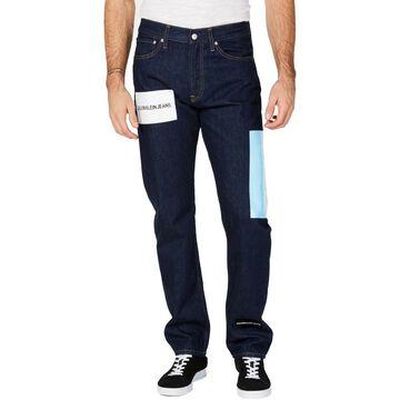 Calvin Klein Jeans Mens Straight Leg Jeans Denim Logo