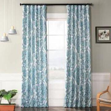 Exclusive Fabrics Tea Time Blackout Curtain Panel Pair