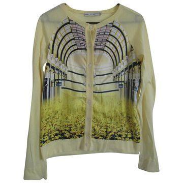 Mary Katrantzou Yellow Silk Knitwear