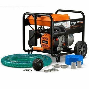 Generac 6822- 5 HP 2 in. Gas Powered Semi-Trash Water Pump w/ Hose Kit