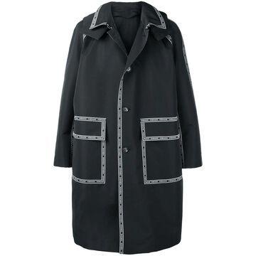 Nastro Versace hooded parka