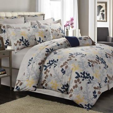 Tribeca Living Barcelona 12-Piece 300-Thread-Count Premium Cotton Percale Full Comforter Set