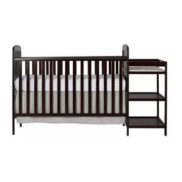 Dream On Me Anna 4-In-1 Convertible Crib And Changing Table Combo In Espresso