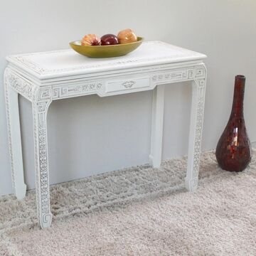 International Caravan Windsor Carved White Console Table (Antique White)