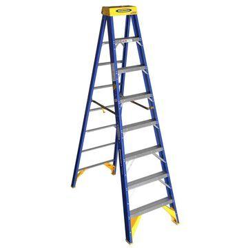 Werner OBCN00 Fiberglass 8-ft Type 1AA - 375-lb Capacity Step Ladder in Blue | OBCN08