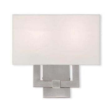 Livex Lighting Meridian 13-in W 1-Light Brushed Nickel Modern/Contemporary Wall Sconce   51103-91
