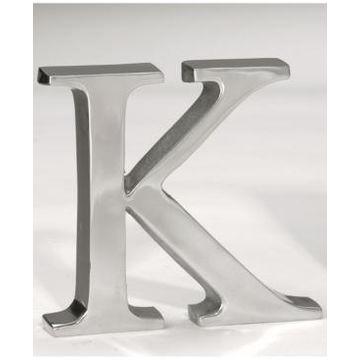 """St. Croix Kindwer 6"""" Aluminum Letter K"""