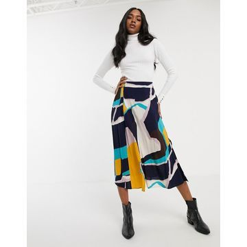 Y.A.S midi skirt in abstract print-Multi