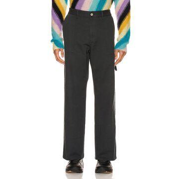 Loewe Turn Up Patch Pocket Trousers in Navy Blue | FWRD