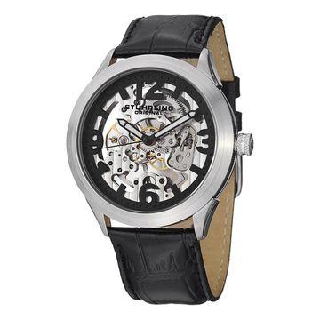 Stuhrling Original Men's Commerce Mechanical Leather Strap Watch (Stuhrling Original Men's Watch)