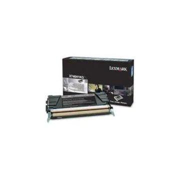 Lexmark X746H1KG Lexmark Toner Cartridge - Black - Laser - 12000 Page - 1 / Pack