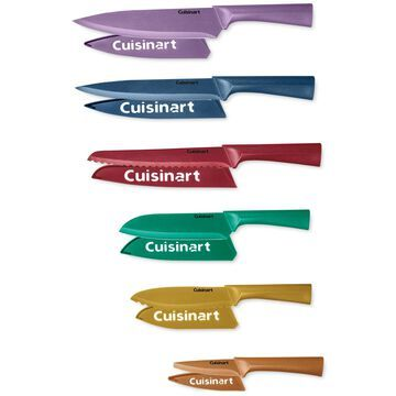 Cuisinart Color Metallic-Coated 12-Pc. Knife Set with Blade Guards