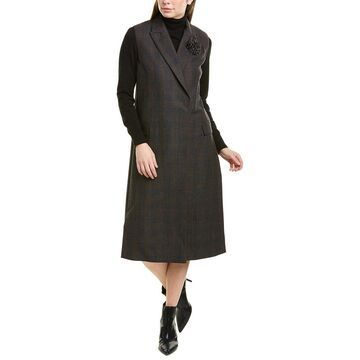 Brunello Cucinelli Wool-Blend Coat Dress