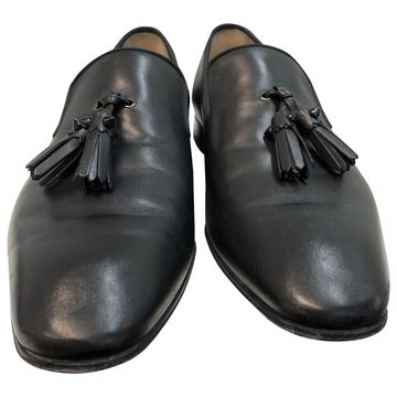 Christian Louboutin Black Leather Flats