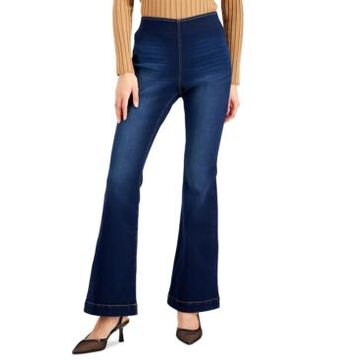 Inc International Concepts Petite Pull-On Flared Jeans, Created for Macy's