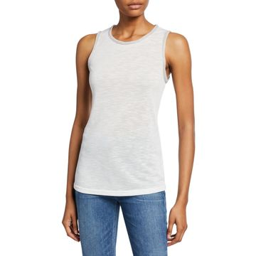 Muscle Tank with Embellished Trim