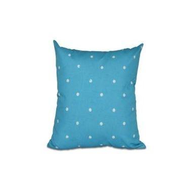 Dorothy Dot 16 Inch Turquoise Decorative Polka Dot Throw Pillow