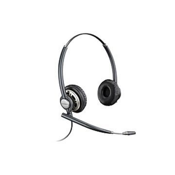 Plantronics HW720 Binaural Headset - Stereo - Wired - Over-the-head - Binaural - Circumaural - Noise Cancelling Microphone - Black
