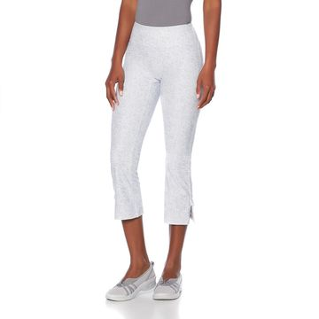 Bzees Tie-Leg Cropped Pant with SPF 40