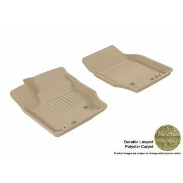 3D MAXpider 2003-2014 Volvo XC90 Front Row All Weather Floor Liners in Tan Carpet