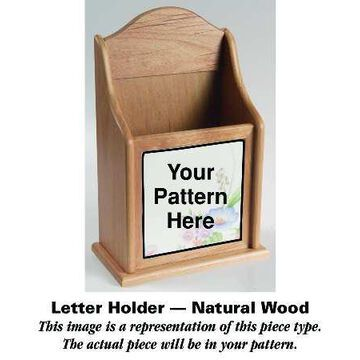 Mason's Paynsley Pink Natural Wood Letter Holder HC