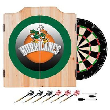 NCAA Wood Dart Cabinet Set - Honeycomb