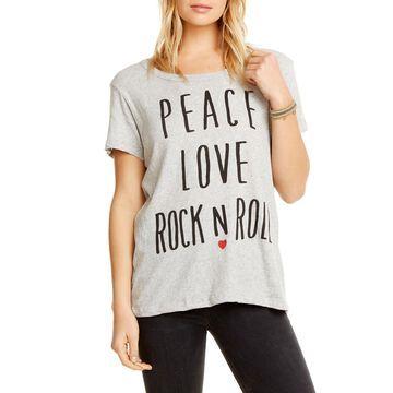 Peace Love Rock Cotton Tee