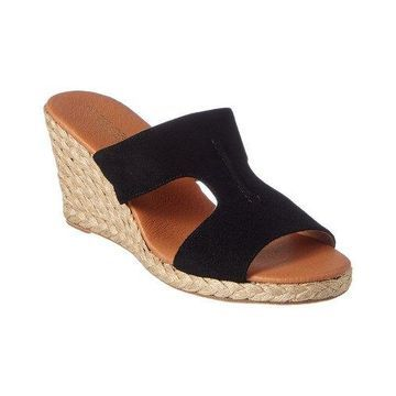 Andre Assous Alana Suede Wedge Sandal