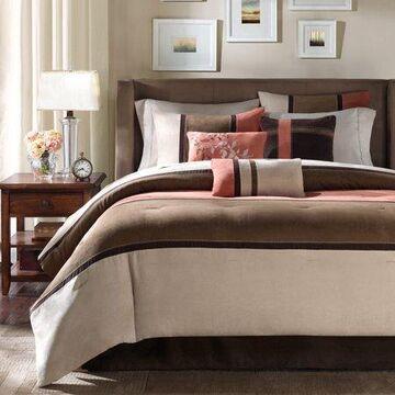 Home Essence Overland 7 Piece Faux Suede Comforter Set
