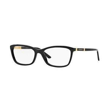 Versace Women's VE3186 GB1 54 Cateye Metal Plastic Black Clear Eyeglasses