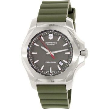 Victorinox Men's Swiss Army I.N.O.X. 241683.1 Green Rubber Swiss Quartz Watch