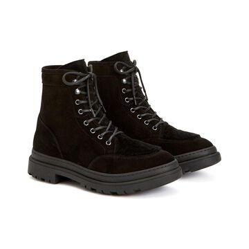 Aquatalia Tristian Weatherproof Suede & Shearling Boot
