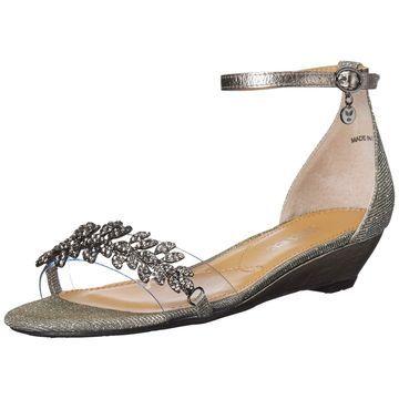J. Renee Silver Eviana Dance Glitter Women 12M Wedges Sandals
