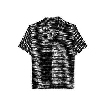 The Kooples Flowing Black & White Short Sleeve Shirt