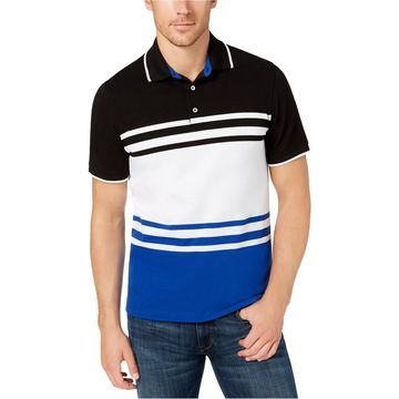 Club Room Mens Colorblocked Rugby Polo Shirt