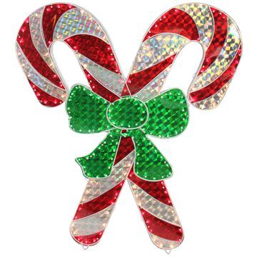 Northlight Lighted Double Candy Cane ChristmasDecoration