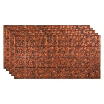 Fasade 48-in x 24-in Traditional 1 5-Pack Moonstone Copper Patterned Surface-Mount Ceiling Tiles
