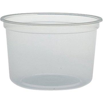 Dart MicroGourmet Food Container, 16 oz, Plastic, Translucent, 500/Carton -DCCMN160100