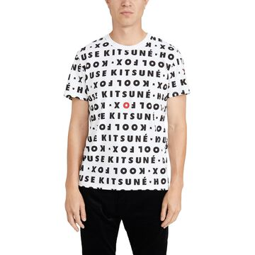 Maison Kitsune Short Sleeve T-Shirt with Kool Fox