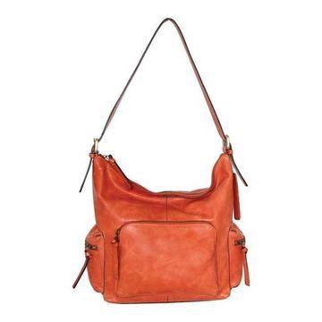 Nino Bossi Women's Willa Leather Shoulder Bag Orange - US Women's One Size (Size None)