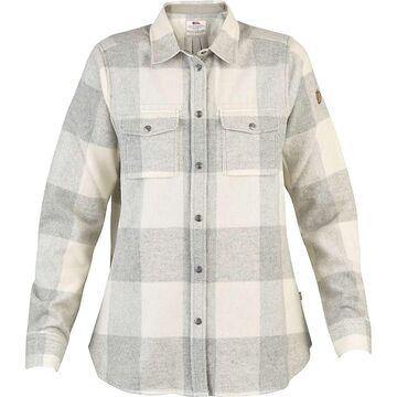 Fjallraven Women's Canada LS Shirt - Small - Fog / Chalk White